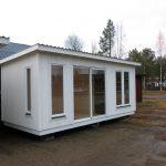 Hakskog 2 är en friggebod med bastu och relaxavdelning - exteriör