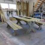 plankbord med kryssben